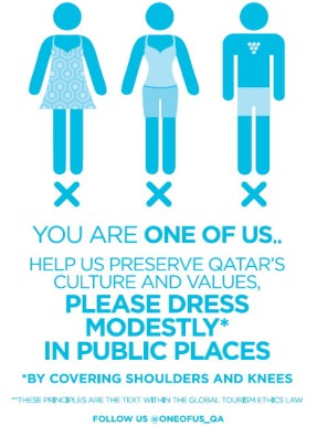 qatar sign modesty